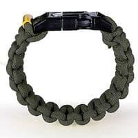 Outdoor Element Kodiak 550 Paracord Survival Bracelet - Olive Green